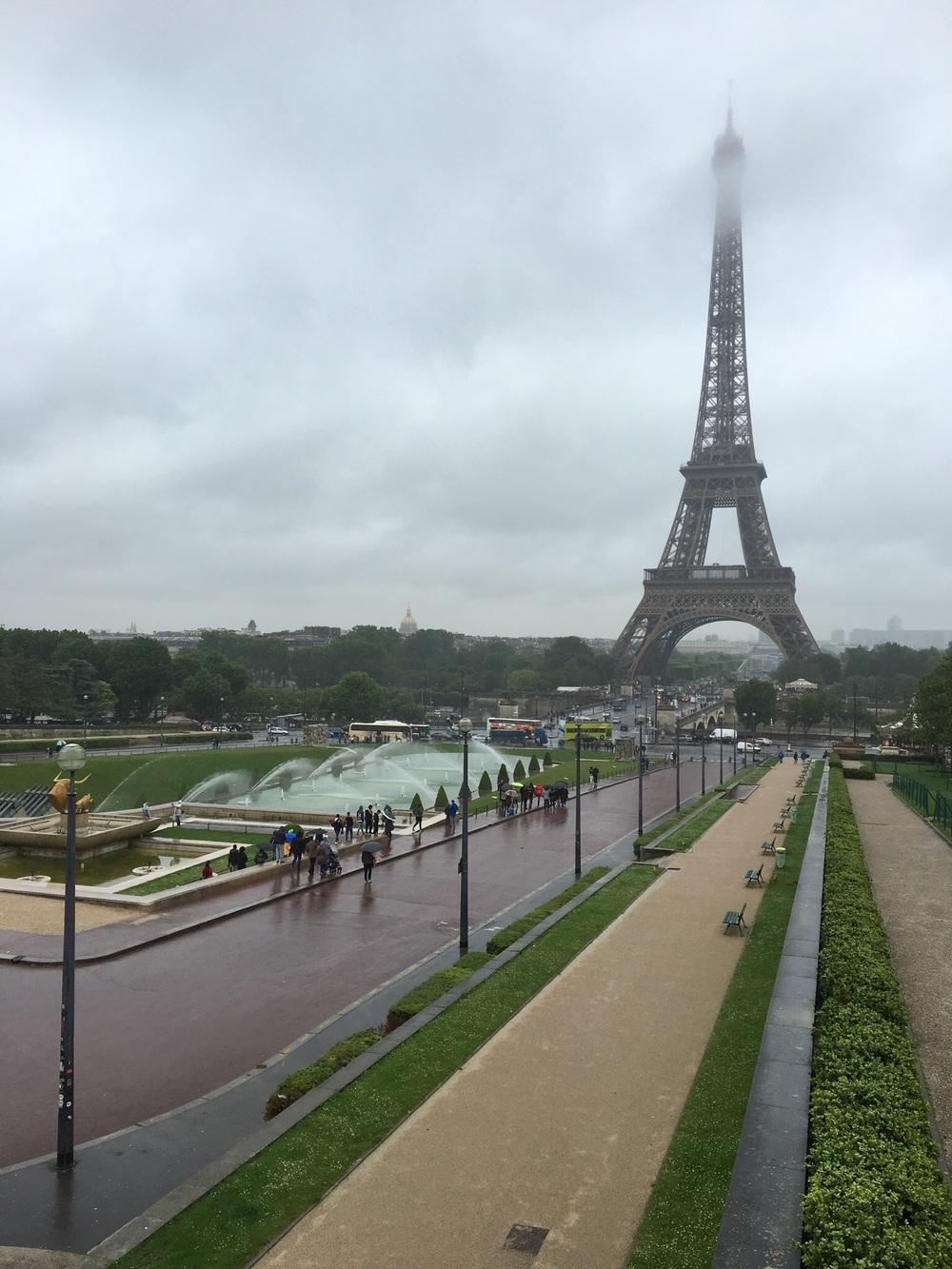 Tour d'Eiffel from Trocadero Fountains