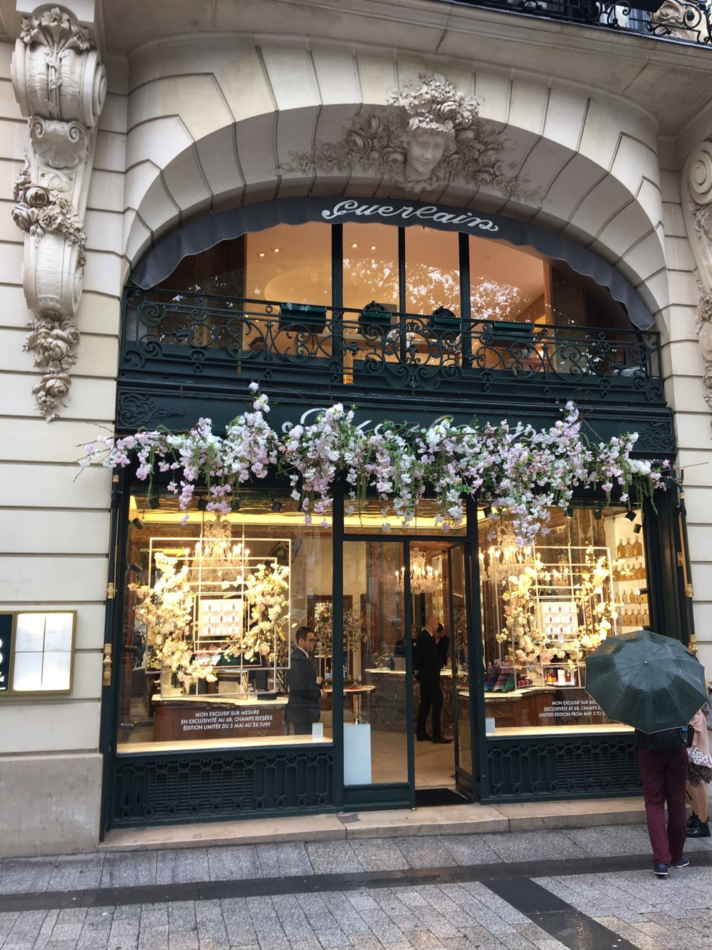 Planning an expensive purchase abroad? Be sure to get your VAT back, get the paperwork and save the packaging too!  A parfum store along Champs Elysses.