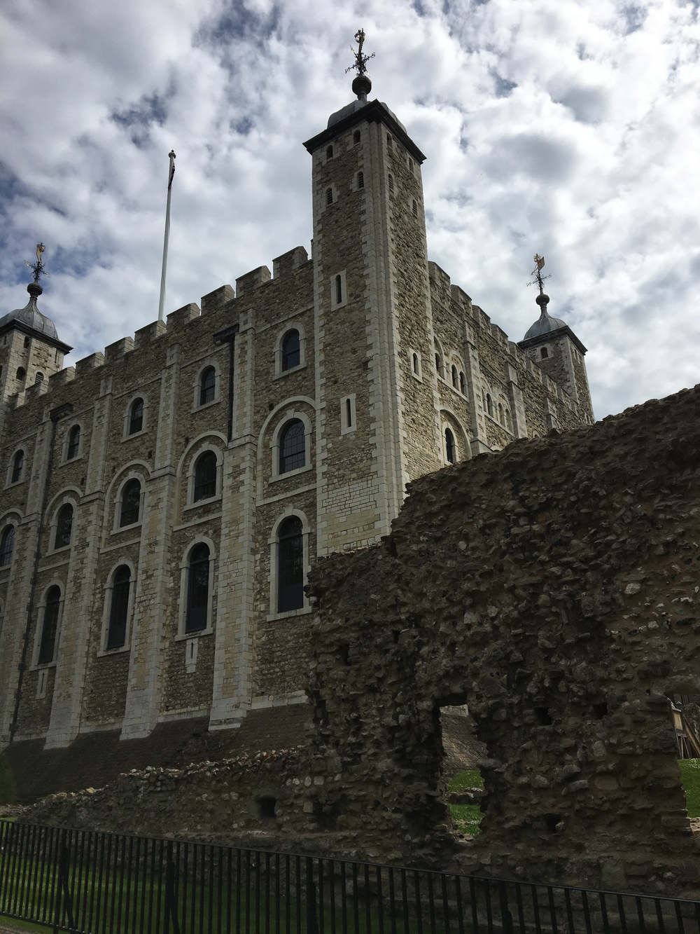 The White Tower and a piece of the original wall