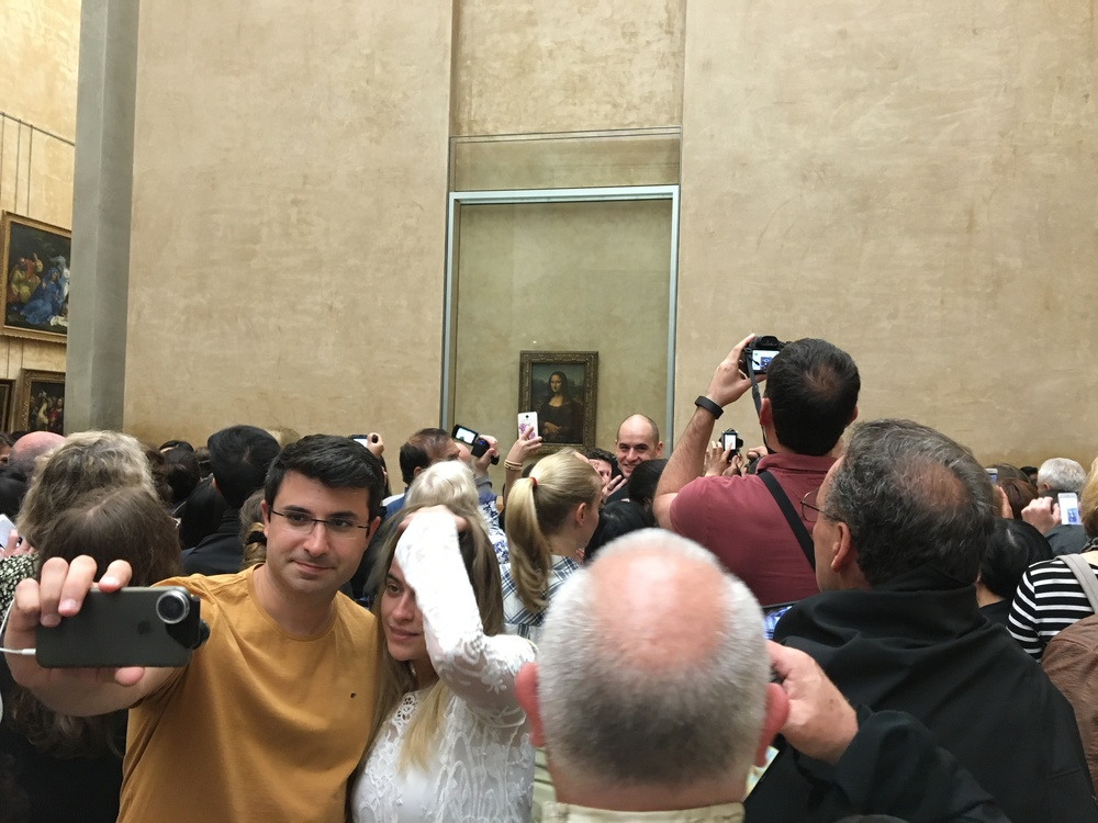 This scene at the Leonardo Da Vinci's Mona Lisa is one of the reasons I never had a good experience at the Louvre in the past.  That all changed with this visit with Context. Viewing Mona Lisa still wasn't pleasant to experience, but the rest of the museum was opened up to us in a way it never had before!