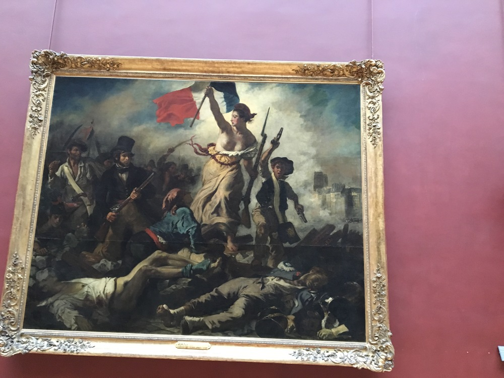 In this area we also saw late European paintings depicting the French Revolution, here, July 28 Liberty Leading The People, by Delacroix, perhaps one of the most famous French Painters