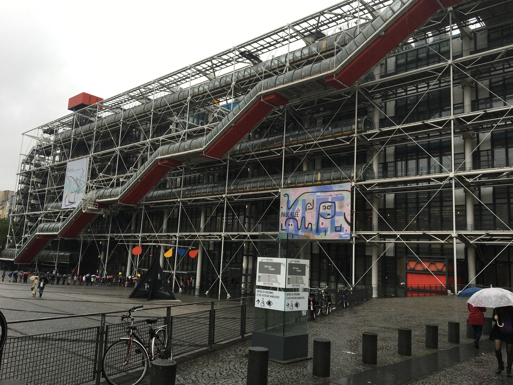 The entrance to the Pompidou Center