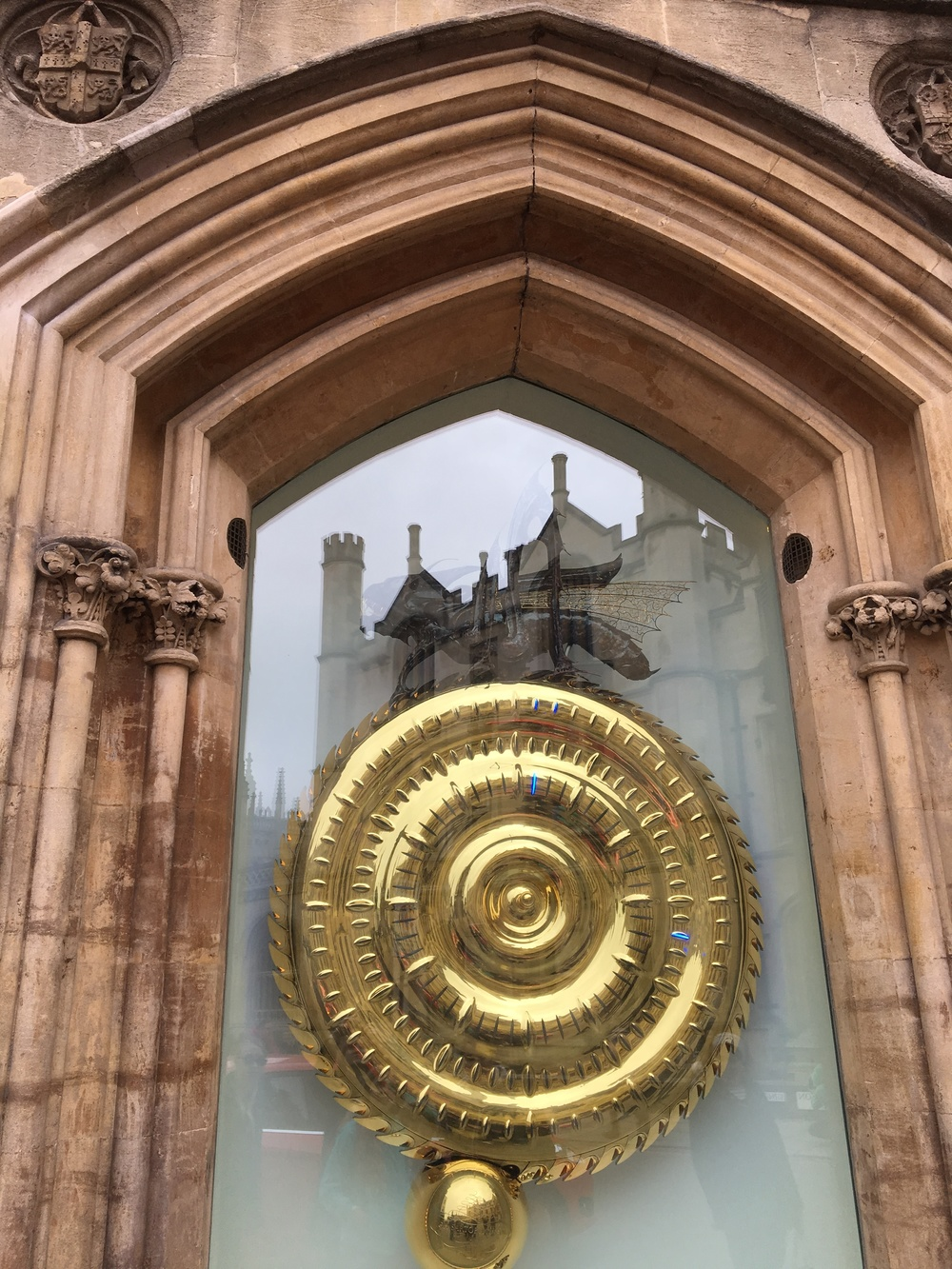 The Corpus Clock is a newer addition to The Corpus Christi College Taylor Library, famous for having been unveiled by Stephen Hawking.