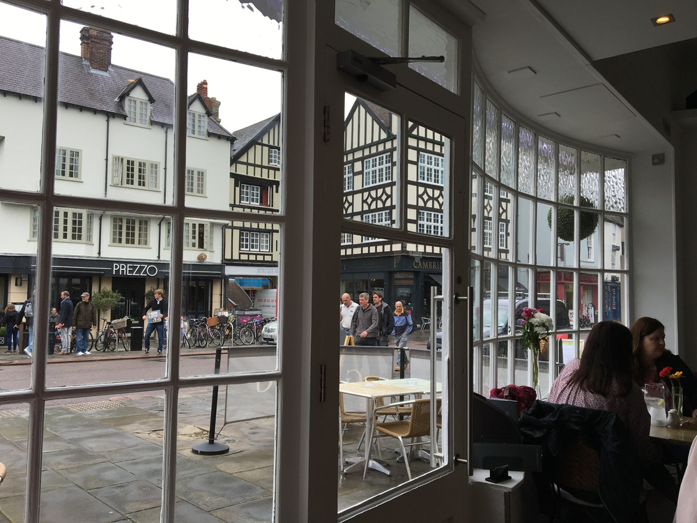 There are plenty of lovely shops and cafes in Cambridge...none of them are inexpensive!