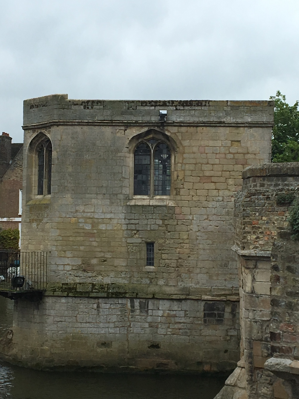 "A small bridge over the river Ouse (hysterically pronounced OOze!) holds one of the few remaining ""bridge chapels"" in Great Britain. This one dates to the 15th century."