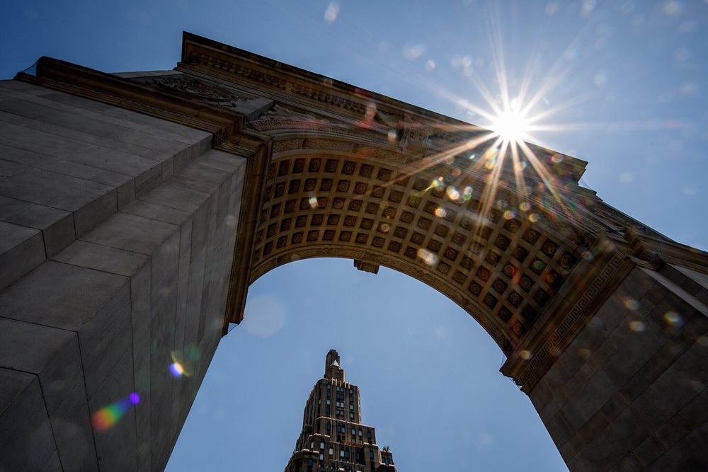 The arch in Washington Square Park