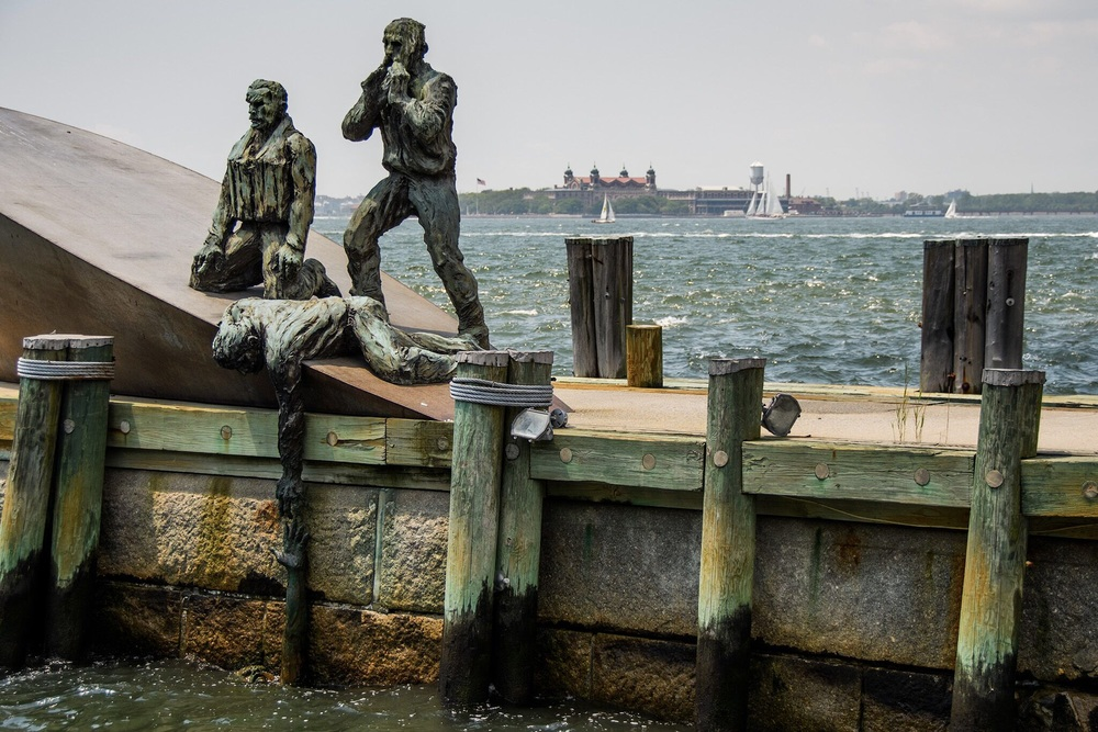 We weren't done with emotional memorials, we saw this one for the Merchant Marines in Battery Park.