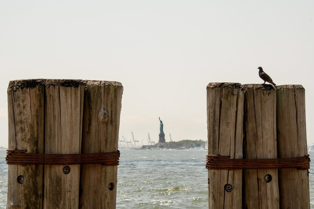 A view of the Statue of Liberty.