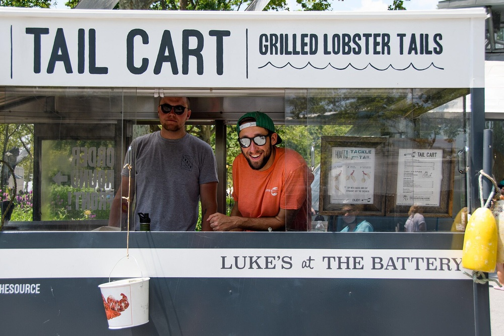 The grilling crew at Luke's at the Battery