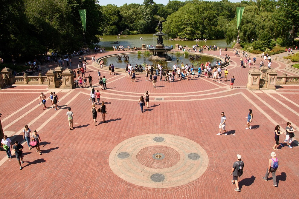 The Bethesda Fountain- another iconic NYC site used as a setting in many major films.