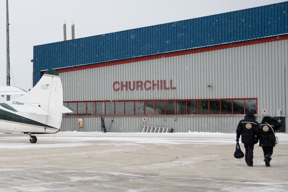 Turbo prop planes or a two day trip on the railroad are the only way into Churchill.
