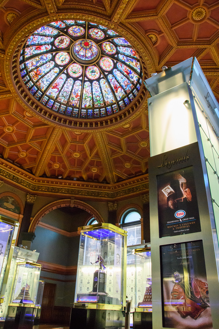 The Hockey Hall of Fame is housed partly in an old bank that is an attraction itself!