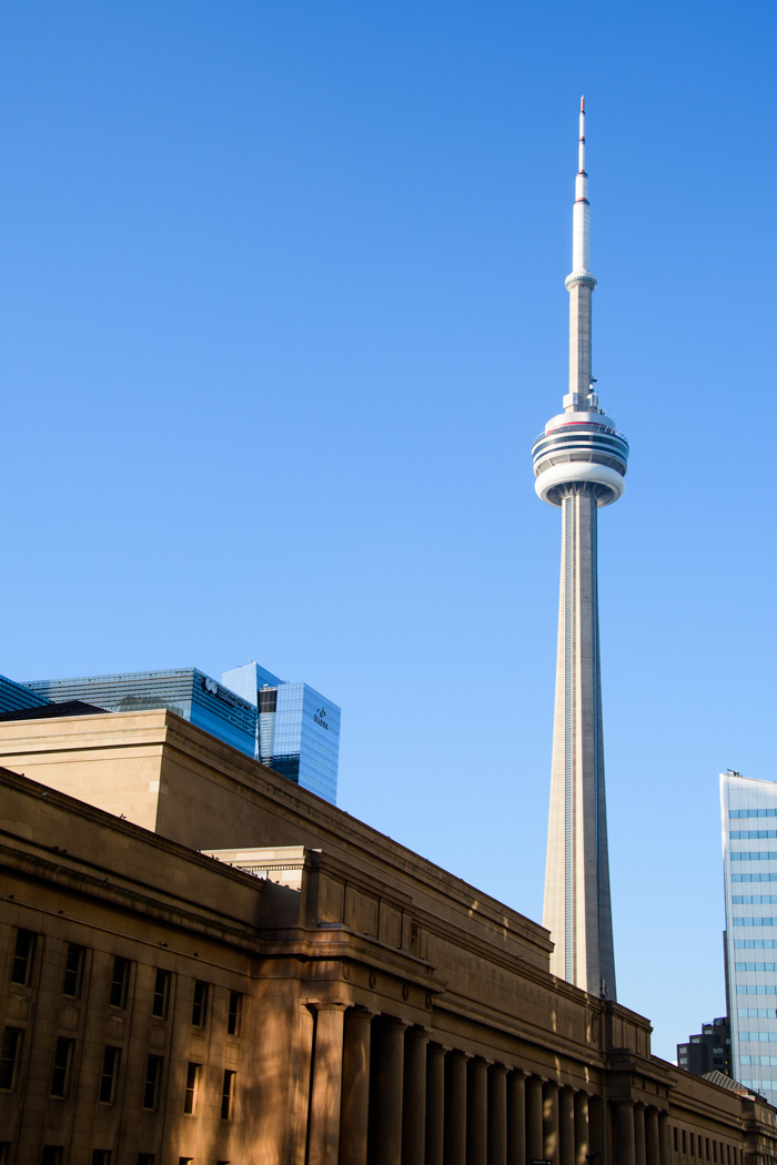 The CN Tower from Union Station