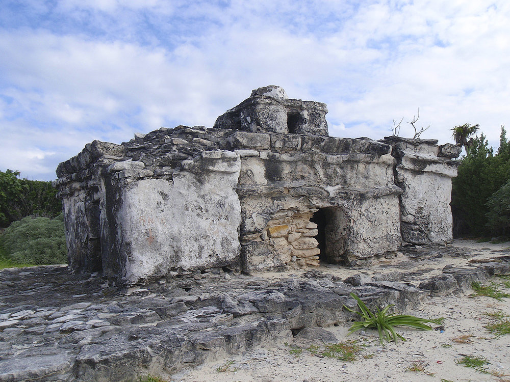 A Mayan ruin on Cozumel