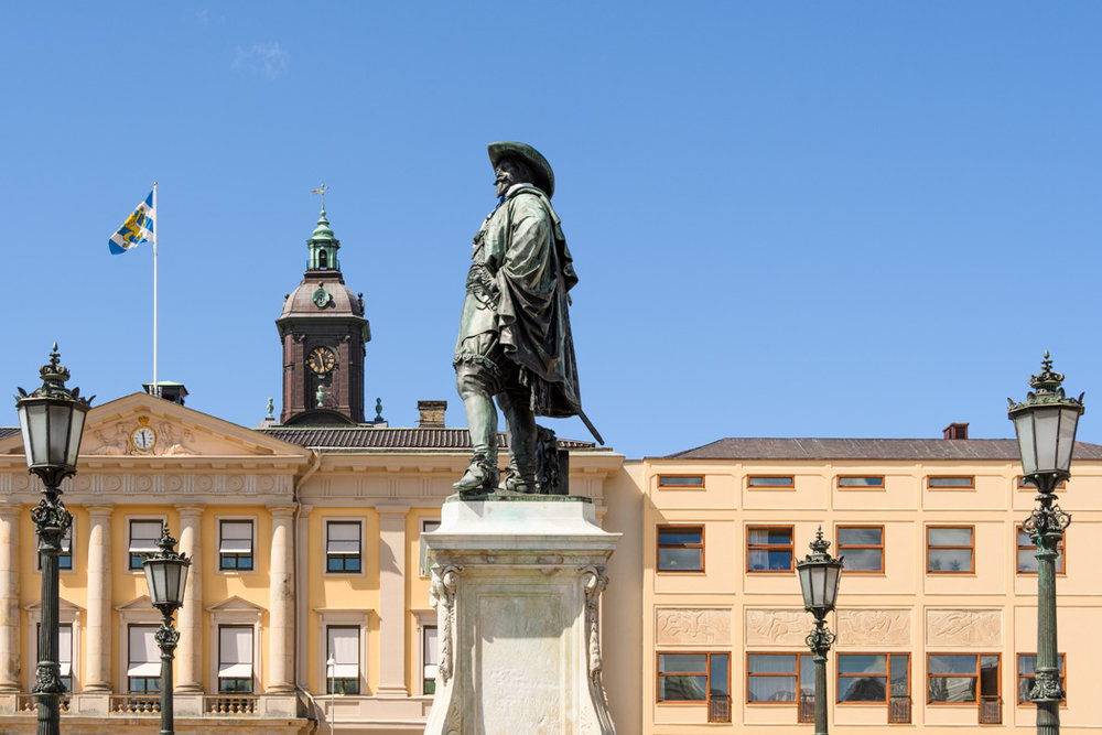Founder of Gothengurg Gustav Aldofs Torg