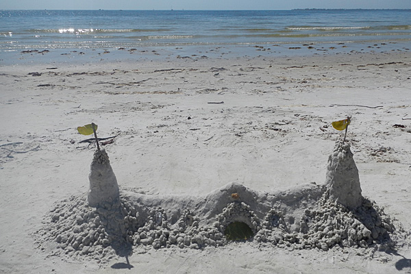 A sand castle along our favorite beach in SW Florida