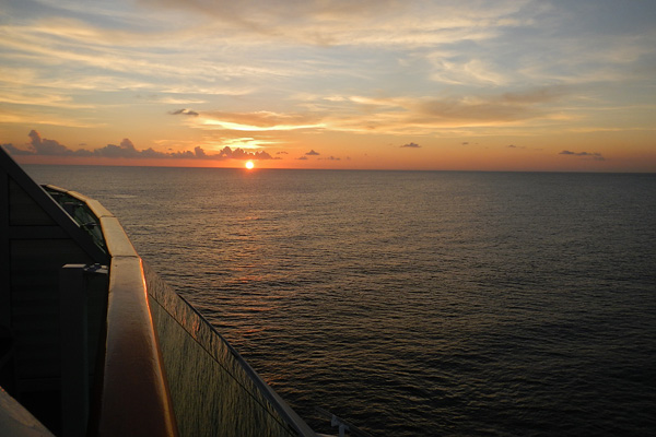 Make sure you get back top the ship on time!  You wouldn't want to miss a sunset like this on the ship leaving Cozumel!