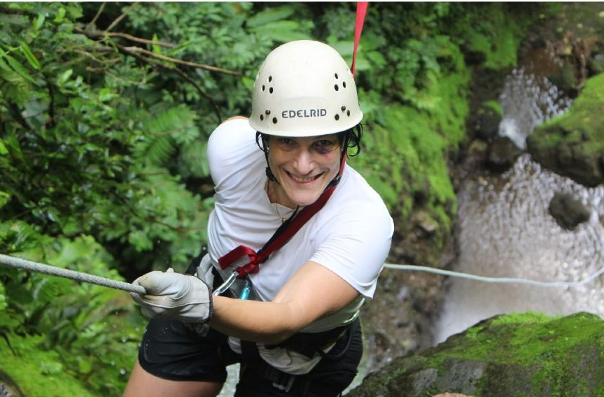 Despite getting a shiner while rafting the Pacuare, Marianne tells us, she loved the active adventure offered in Costa Rica.