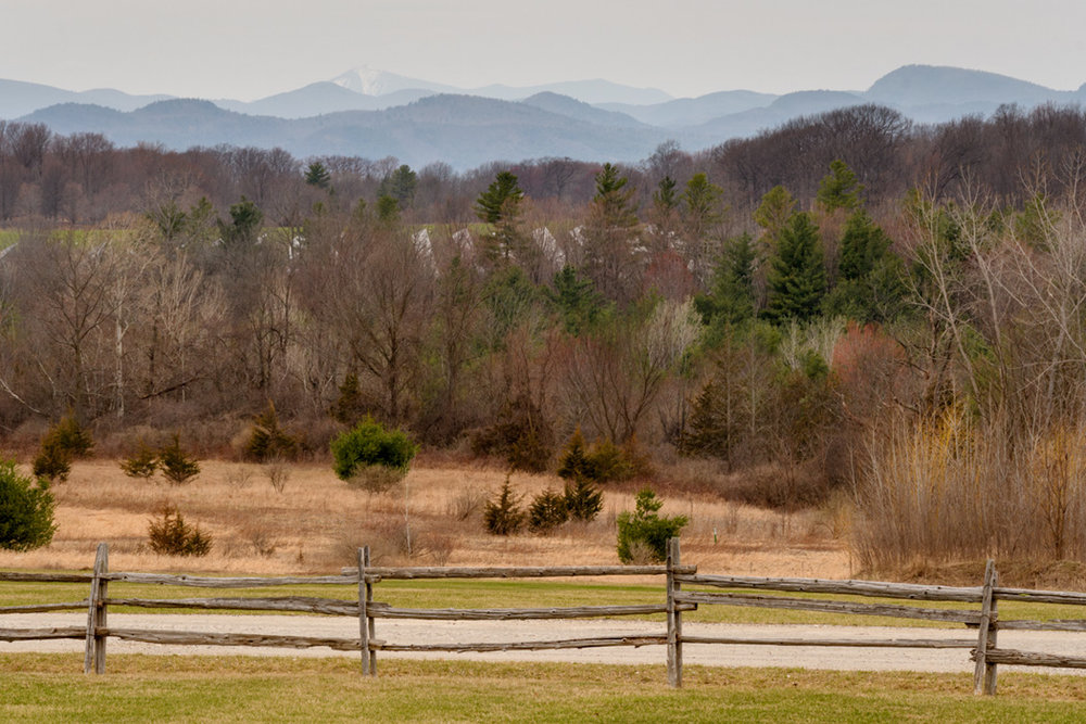 The nearby  Shelburne Museum  enjoys mountain views over old fields. The museum is open during sugaring season for special exhibits, but the large outdoor collection of buildings and gardens is open late spring through fall.