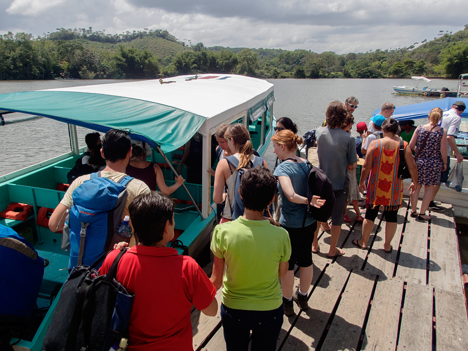 Travel companies that arrange for travelers to use local transportation options like this public ferry option to Drake Bay, Costa Rica (versus a private charter flight) make small group guided touring more affordable, and works well for retirees who have lots of time!