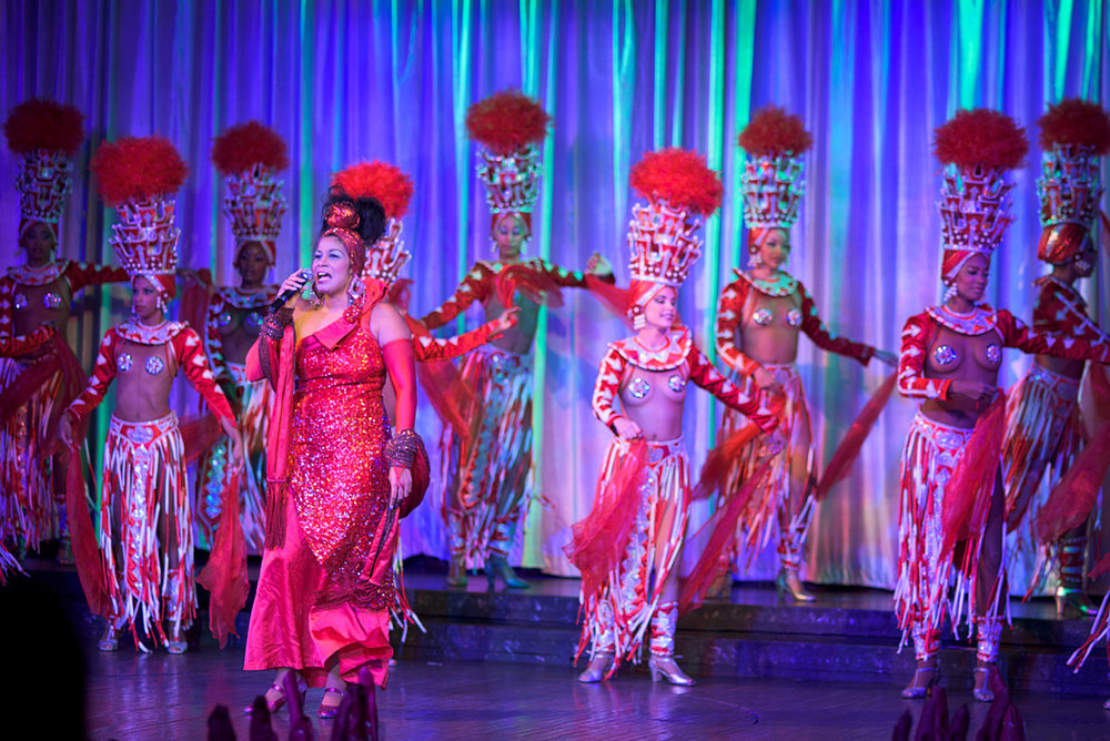 Dancers perform during the cabaret at the Hotel Nacionale in Havana