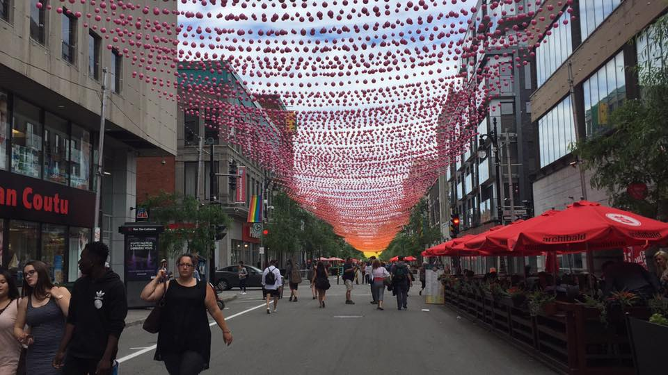 An art installation in Montreal, Canada