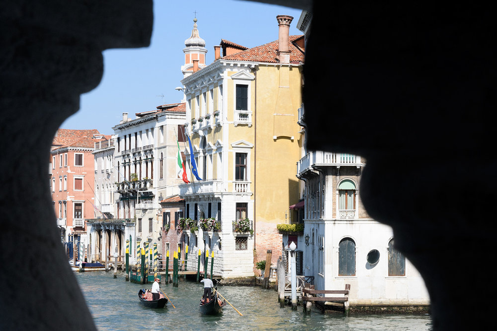 A different look at Venice from the Rialto Bridge- for a different look at Venice, check out our next post!
