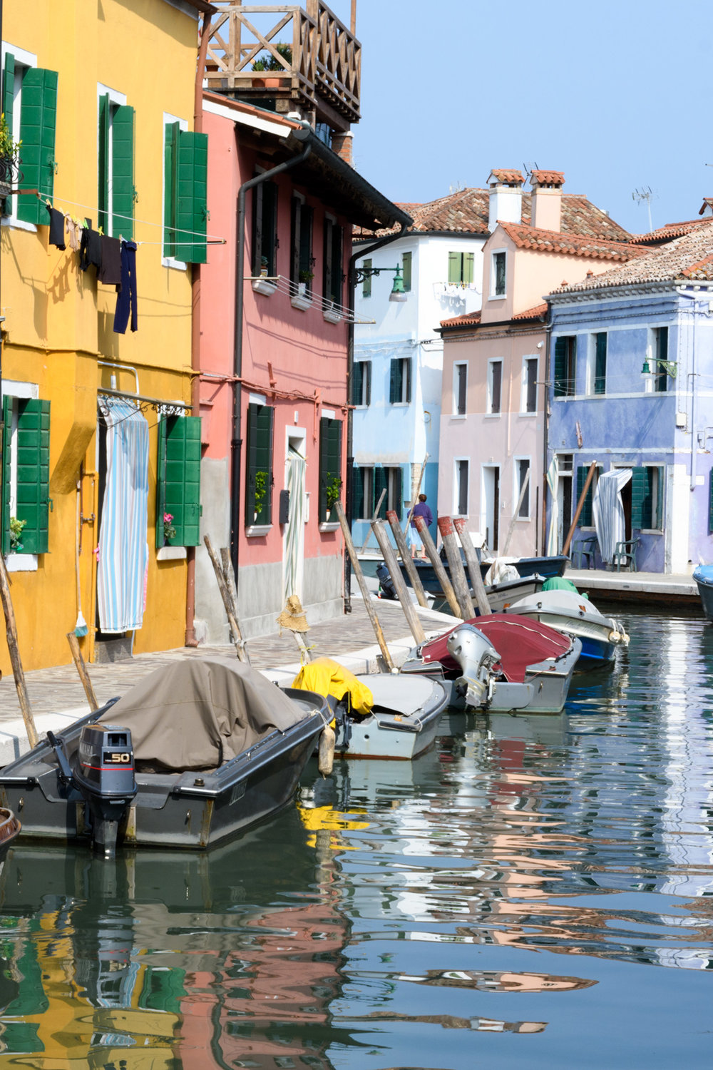 Colorful fisherman' homes in Burano