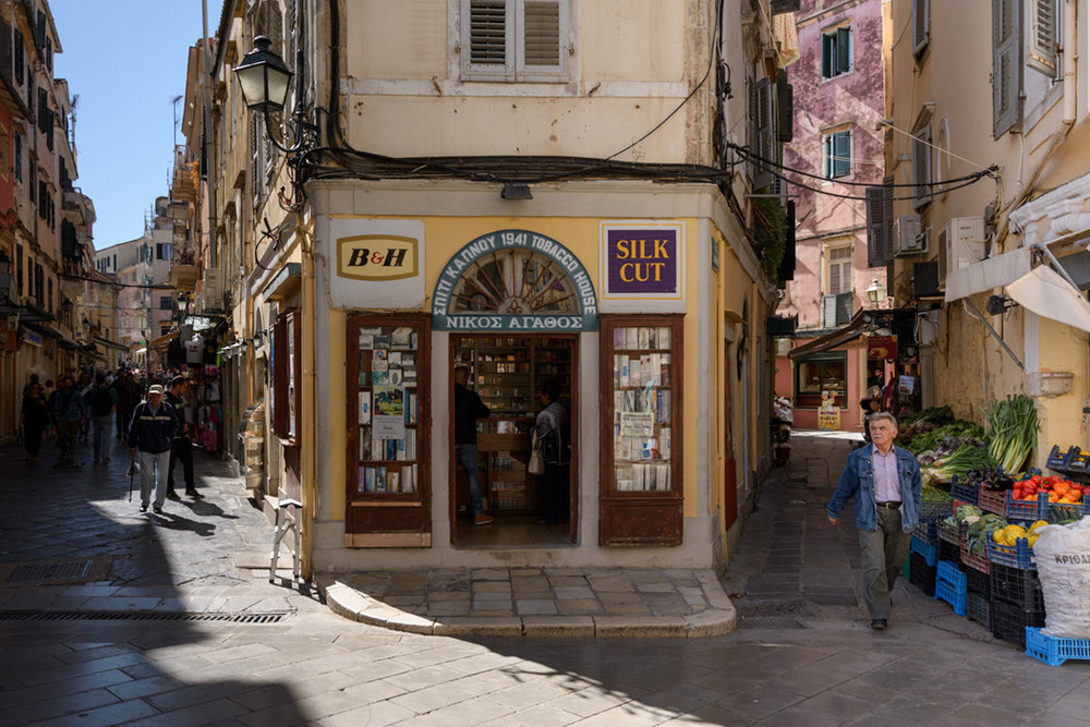Shops in Corfu Town