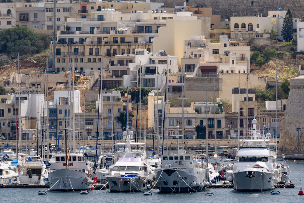 Yachts in the Grand Harbour