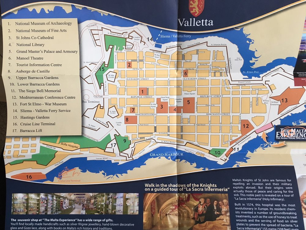 Map from the Malta Expeience