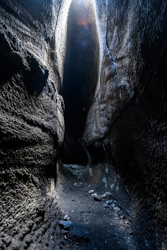 A lava cave on Etna