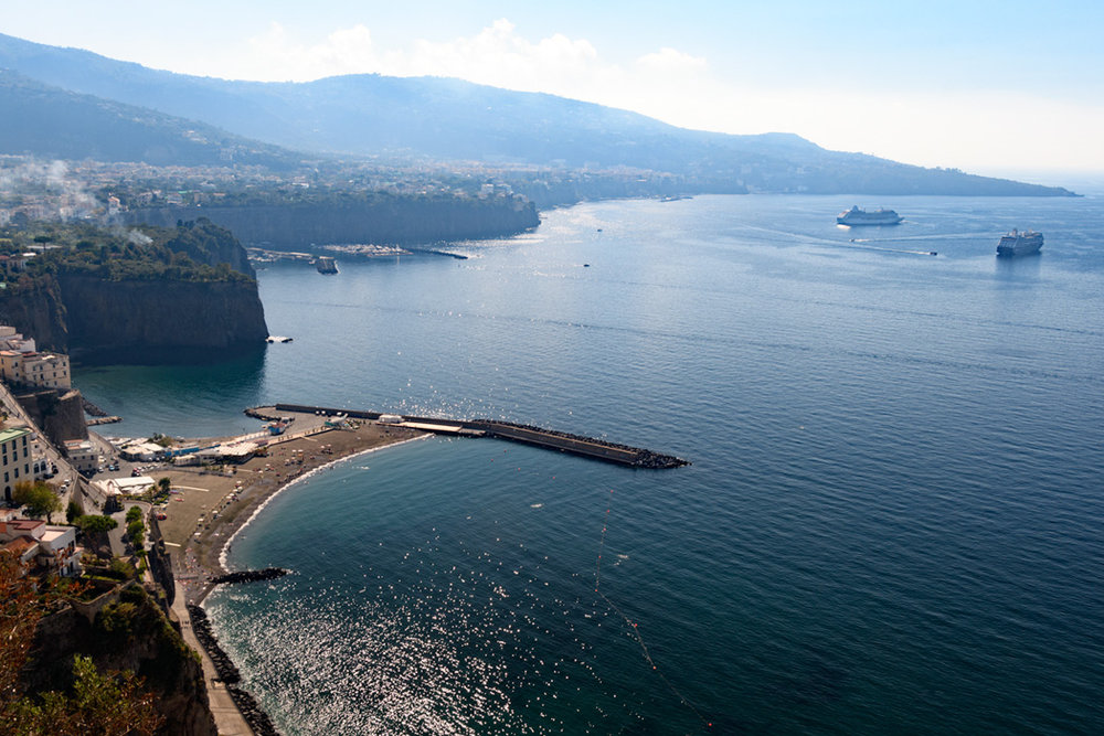 The beach and Mediterranean Sorrento