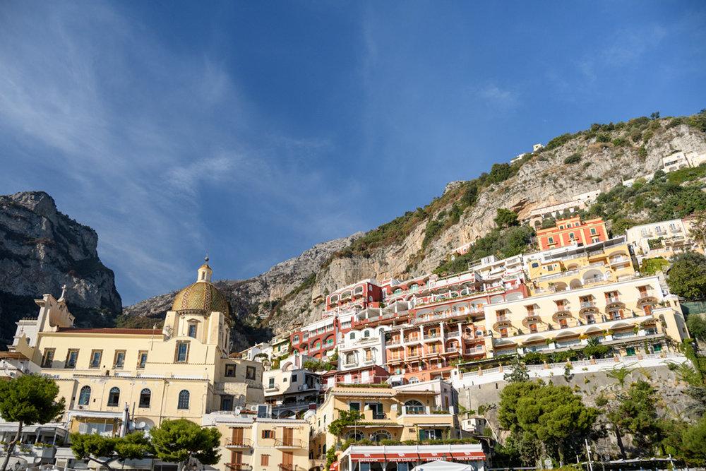Positano and the Santa Maria Assunta on the left
