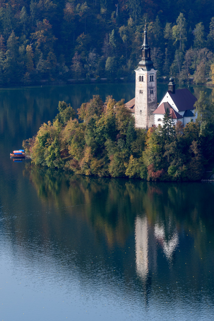 This small country offers environment from coastal to alpine, as is seen here at Lake Bled, as well as one of the prettiest little European capitals, Ljubljana.