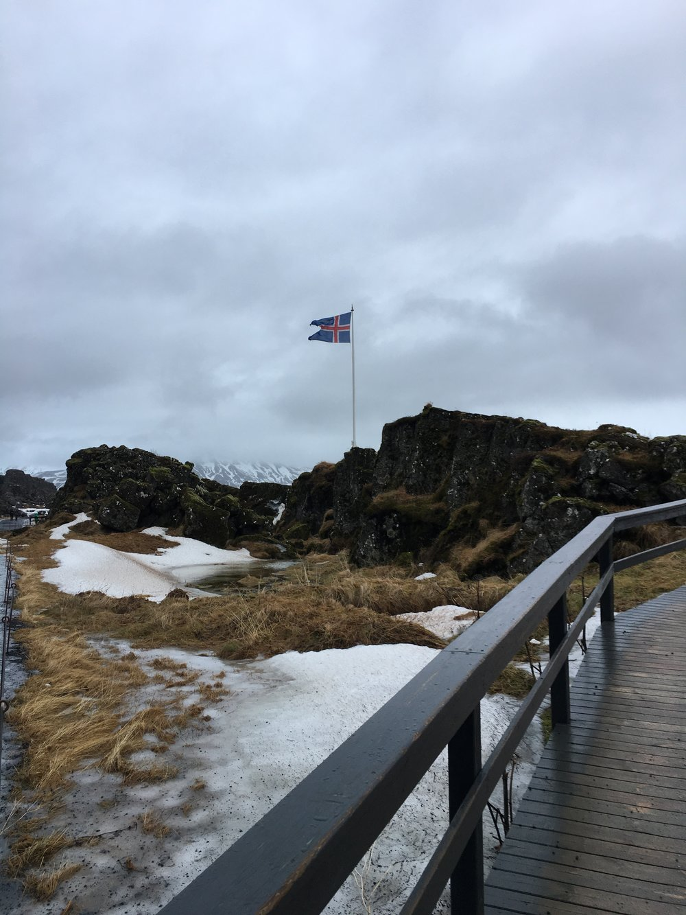 Pingvellir National park, a rift valley between the Eurasian and North American geological plates. What fascinated my Political Science major daughter most was that it's also the site where Vikings met starting one of the earliest forms of parliamentary government!