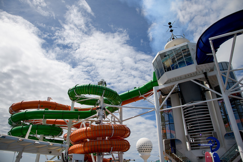 Water slides aboard Liberty of the Seas