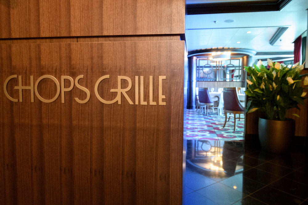 A specialty restaurant aboard Rhapsody of the Seas