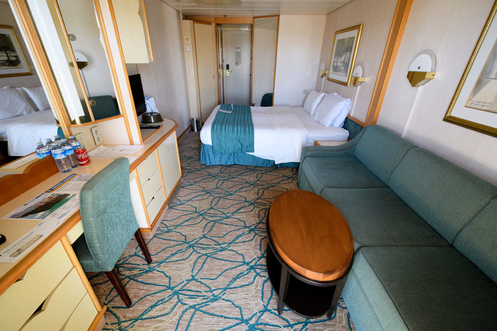 A cabin aboard Rhapsody of the Seas