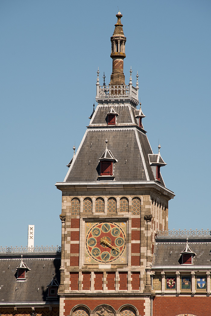 One of two towers on the Central Station, this one shows the wind direction, an important parameter for ships sailing into Amsterdam.
