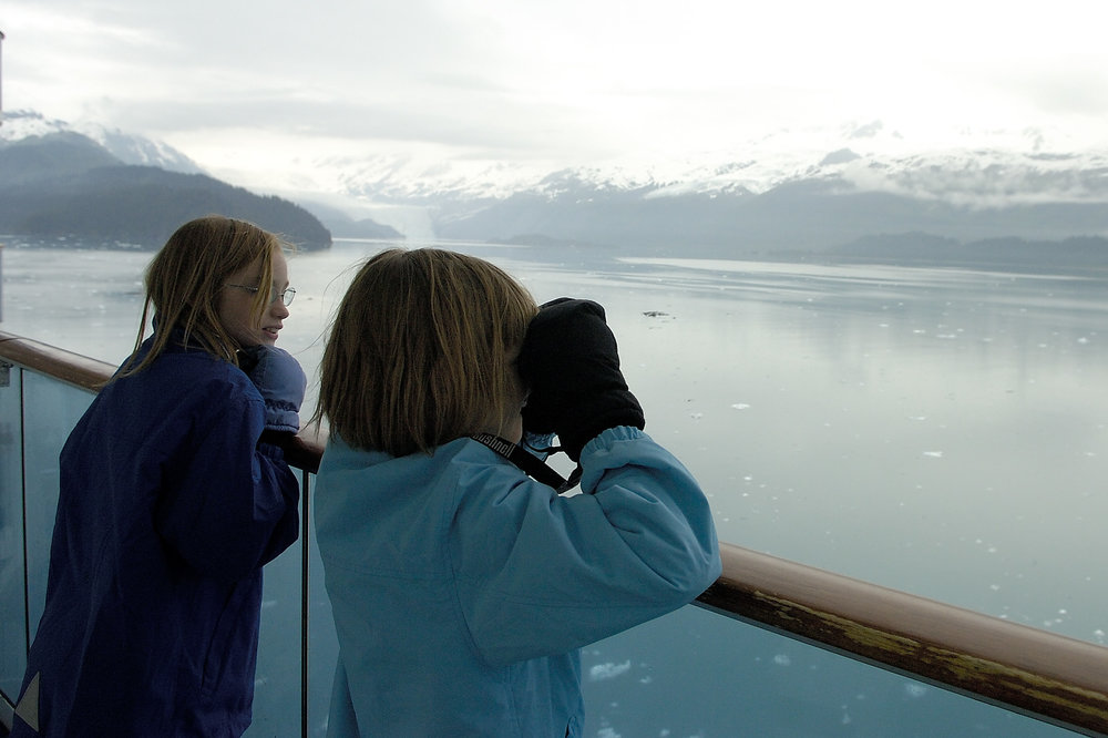 Lesson learned, we kept the kids with us in the College Fjords, but no calving tidewater glaciers that day in 2005.