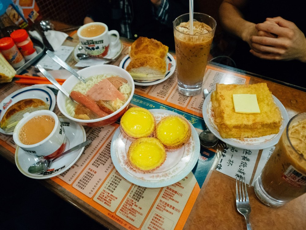 Breakfast at a cha chaan teng