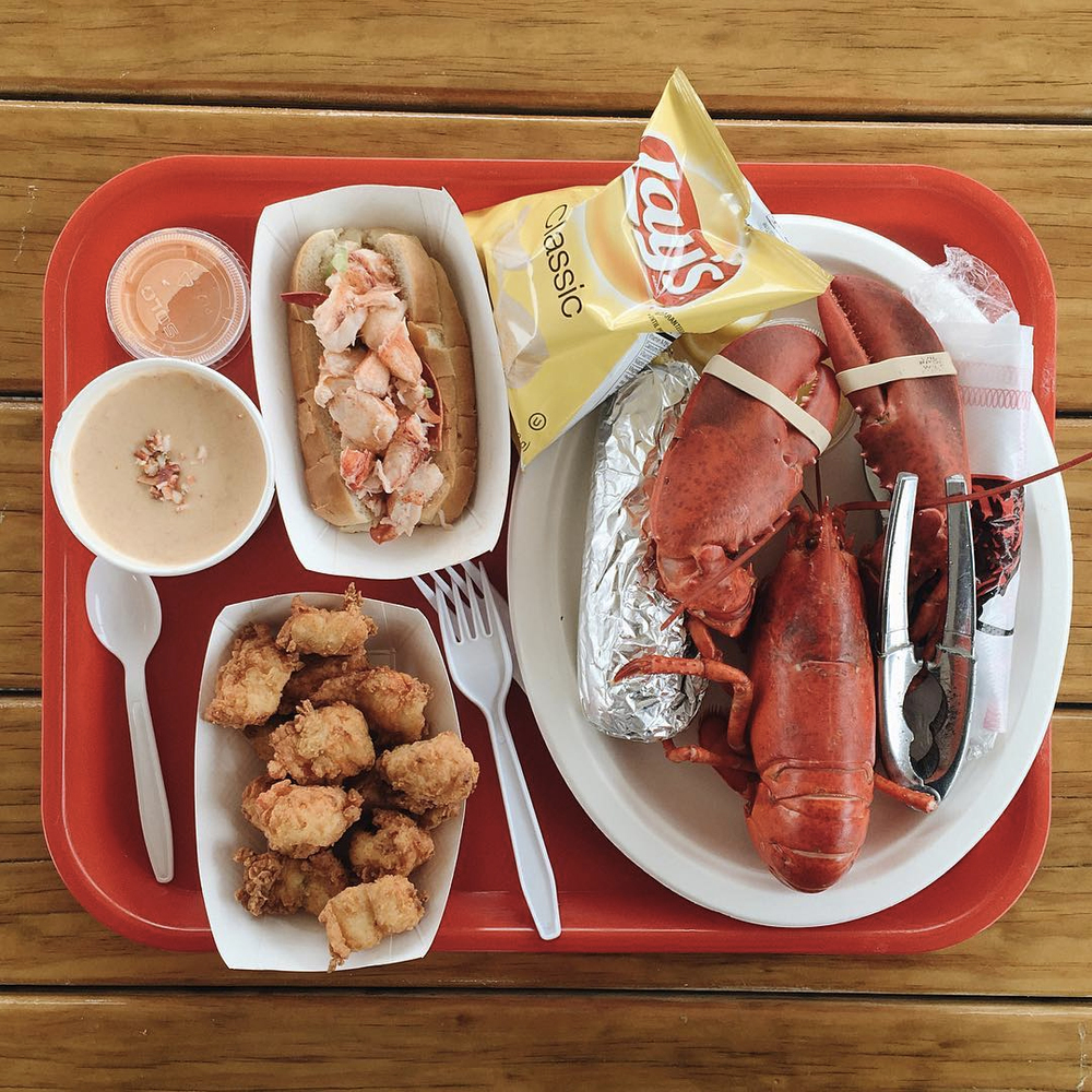 Lobster bisque, lobster roll, lobster bites, lobster dinner. Mhmmmm.