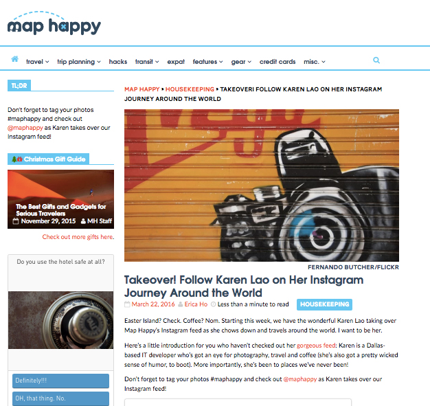 MapHappy: Instagram Takeover