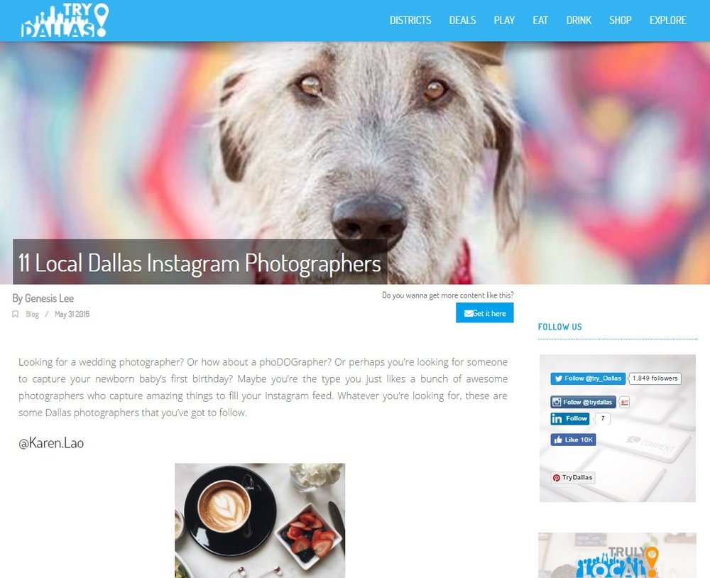TryDallas: 11 Local Dallas Instagram Photographers