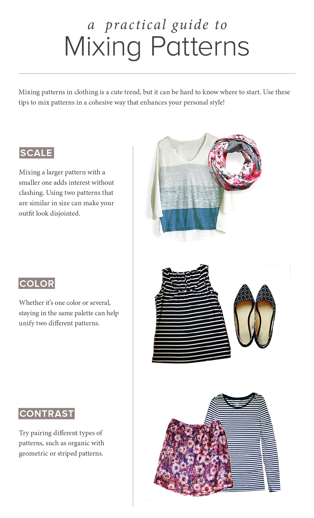 mixing patterns in clothing