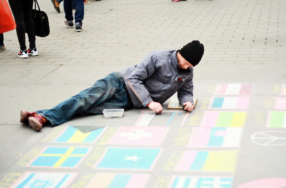 Chalk Art - Trafalgar Square