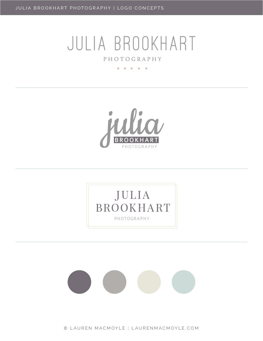 Studio Photography Branding and Logo Design   Lauren MacMoyle   Graphic Design