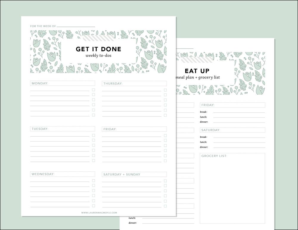 Organizational Sheets