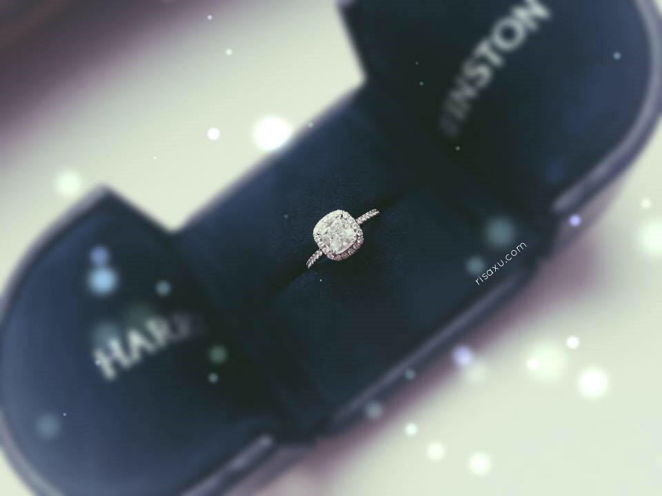 risa xu harry winston cushion cut micropave